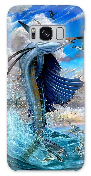 Sailfish And Flying Fish Galaxy Case