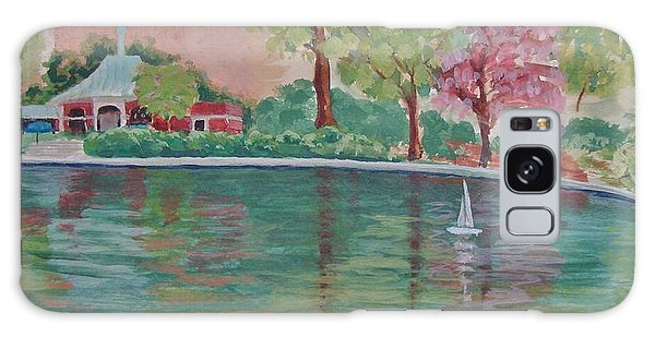 Sailin' Away In Central Park Galaxy Case by Margaret Bobb
