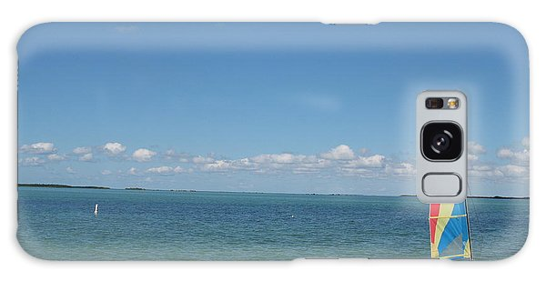 Sailing  At Key Largo Galaxy Case by Christiane Schulze Art And Photography