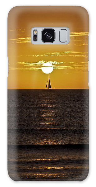 Sailing At Sunset Galaxy Case