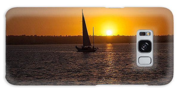 Sailing At Sunset Galaxy Case by Margaret Buchanan