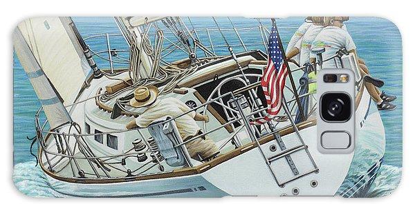 Sailing Away Galaxy Case by Jane Girardot