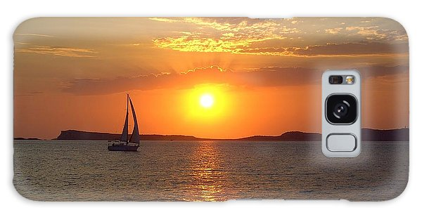 Sailing Boat In Ibiza Sunset Galaxy Case