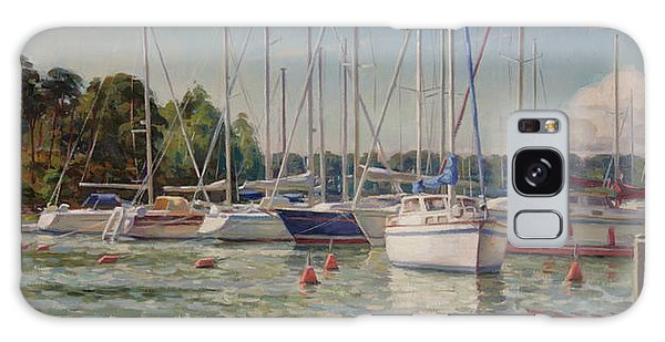 Sailing Boats In Harbor Galaxy Case