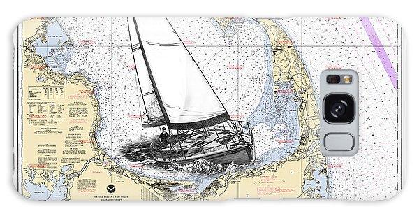 Bay Galaxy Case - Sailing Cape Cod Bay by Jack Pumphrey