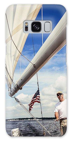 Sailing Captain Pride Galaxy Case