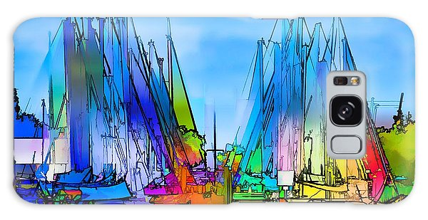 Sailing Club Abstract Galaxy Case by Pamela Blizzard