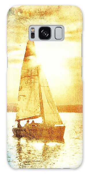 Sailing In Orange Galaxy Case by Andrea Barbieri