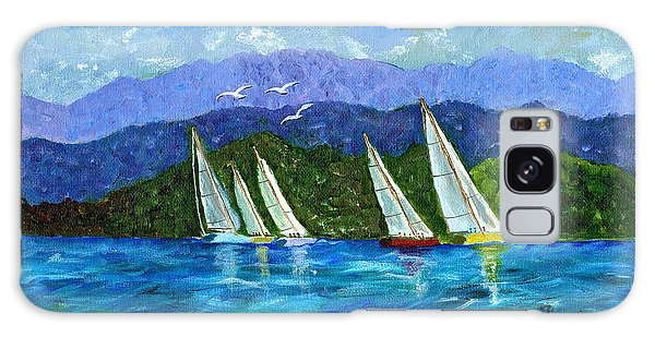 Sailing Galaxy Case by Laura Forde