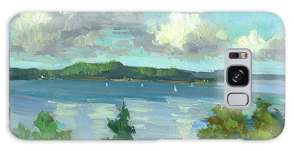 Sailing On Puget Sound Galaxy Case by Diane McClary