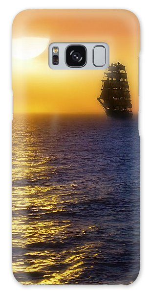 Sailing Out Of The Fog At Sunrise Galaxy Case