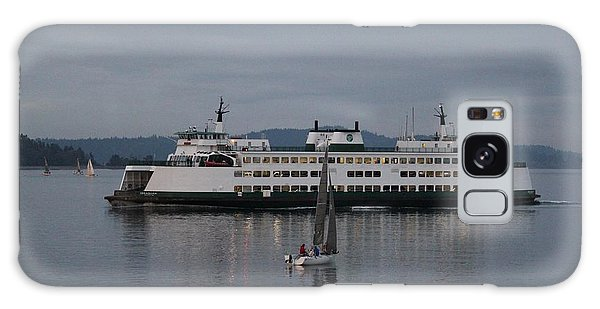 Sailing Regatta And Issaquah Ferry Galaxy Case by E Faithe Lester