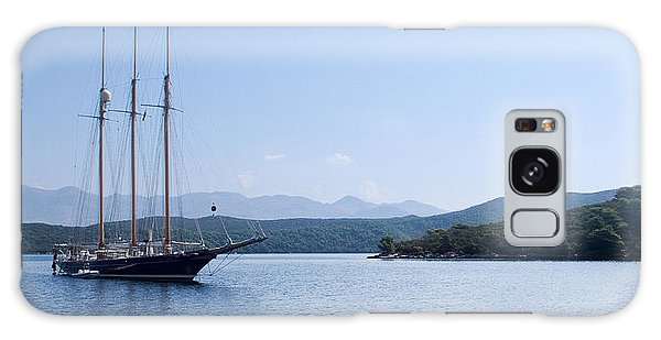 Sailing Ship In The Adriatic Islands Galaxy Case