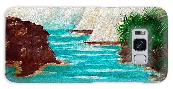 Sailing The Coast Of California Galaxy Case by Sherri's Of Palm Springs