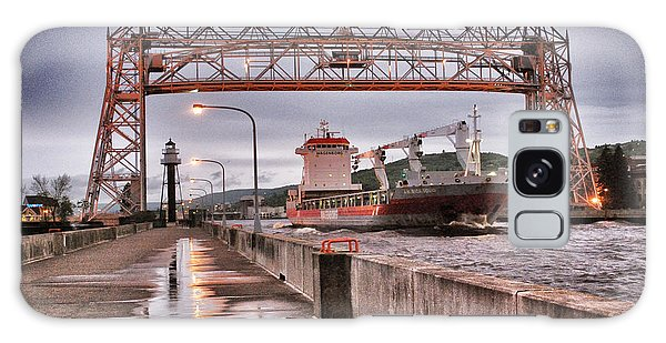 Sailing Through The Duluth Aerial Lift Bridge Galaxy Case