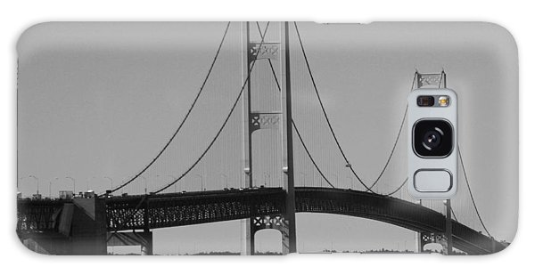 Sailing Under Mighty Mac Black And White Galaxy Case by Bill Woodstock