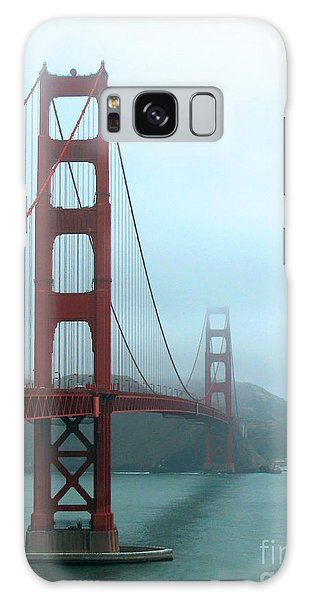 Sailing Under The Golden Gate Bridge Galaxy Case by Connie Fox