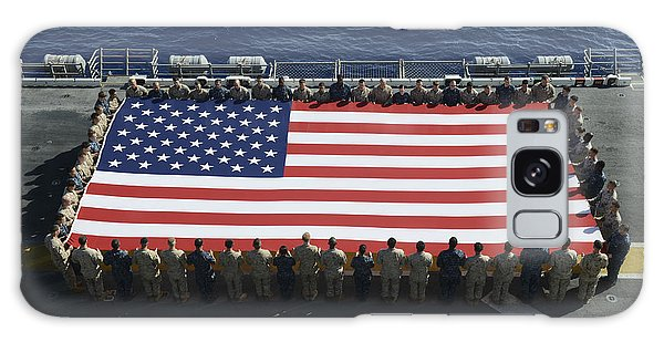 Galaxy Case featuring the photograph Sailors And Marines Display by Stocktrek Images
