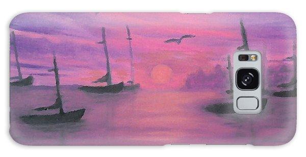 Sails At Dusk Galaxy Case by Holly Martinson