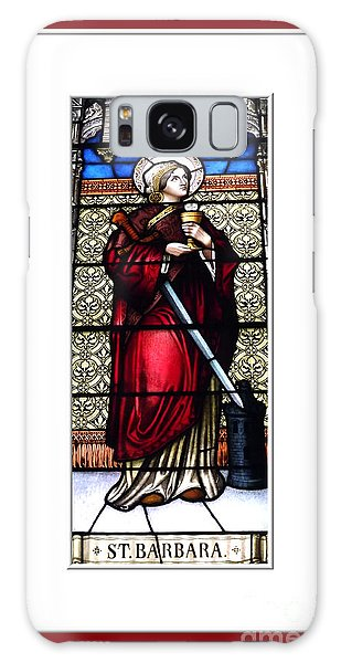 Galaxy Case featuring the photograph Saint Barbara Stained Glass Window by Rose Santuci-Sofranko