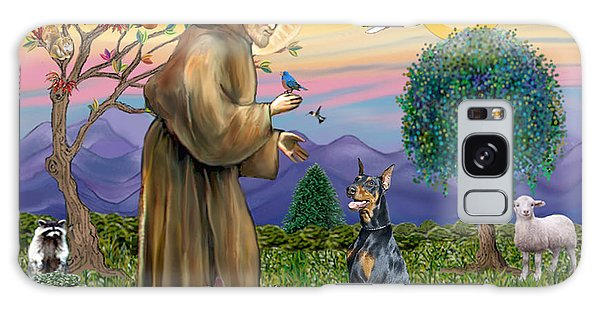 Saint Francis And Doberman Pinscher Galaxy Case
