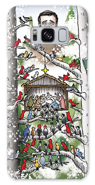 St. Francis And The Birds Galaxy Case