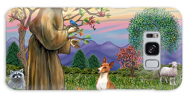 Saint Francis Blesses A Basenji Galaxy Case by Jean Fitzgerald
