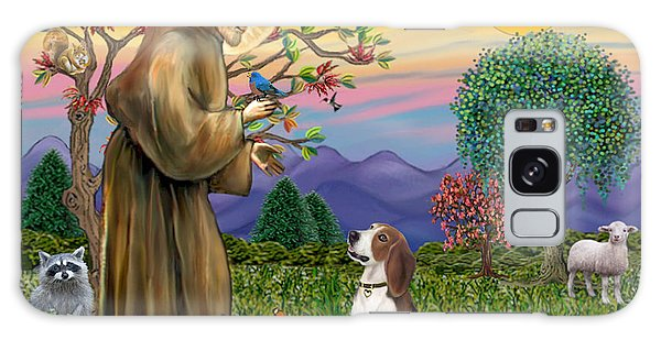 Saint Francis Blesses A Beagle Galaxy Case by Jean B Fitzgerald