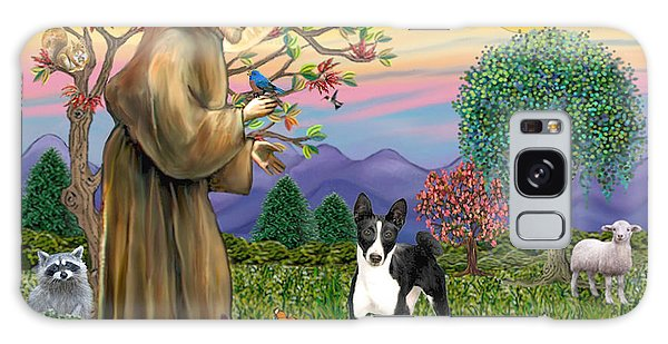Saint Francis Blesses A Black And White Basenji Galaxy Case