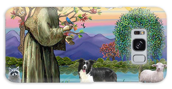 Saint Francis Blesses A Border Collie Galaxy Case