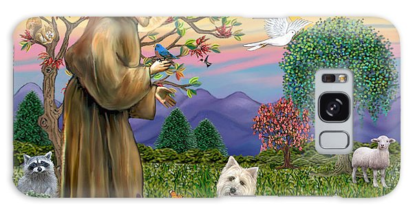 Saint Francis Blesses A Cairn Terrier Galaxy Case