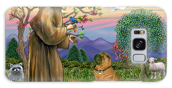 Saint Francis Blesses A Chinese Shar Pei Galaxy Case