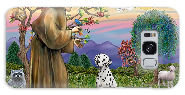Saint Francis Blesses A Dalmatian Galaxy Case by Jean Fitzgerald