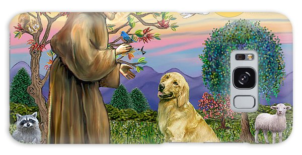 Saint Francis Blesses A Golden Retriever Galaxy Case