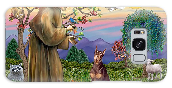 Saint Francis Blesses A Red Doberman Galaxy Case
