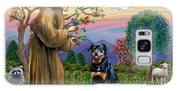 Saint Francis Blesses A Rottweiler Galaxy Case