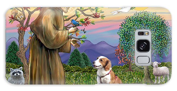 Saint Francis Blesses A Welsh Springer Spaniel Galaxy Case