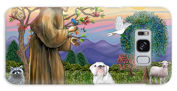 Saint Francis Blesses An English Bulldog Galaxy Case
