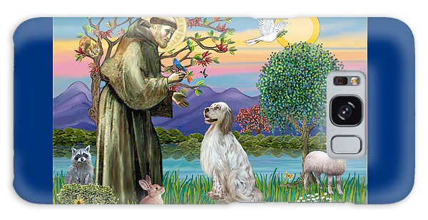 Saint Francis Blesses An English Setter Galaxy Case