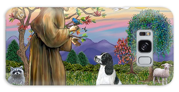 Saint Francis Blesses An English Springer Spaniel Galaxy Case by Jean Fitzgerald