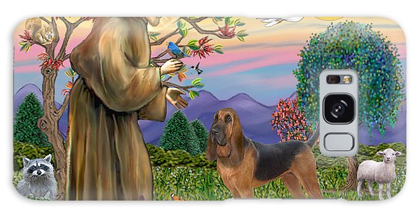 Saint Francis Blessing A Bloodhound Galaxy Case by Jean Fitzgerald