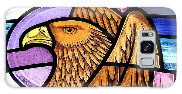 Saint John Eagle  Galaxy Case by Gilroy Stained Glass