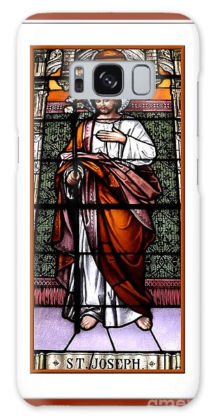 Saint Joseph  Stained Glass Window Galaxy Case