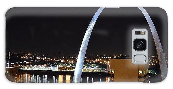 Saint Louis Skyline And Jefferson Expansion Arch Galaxy Case by Jeff at JSJ Photography