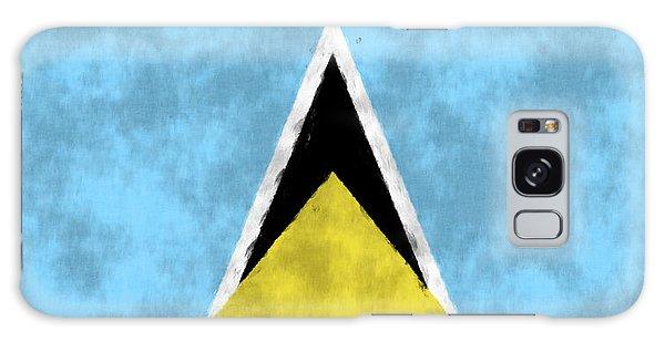 Bahamas Galaxy Case - Saint Lucia Flag by World Art Prints And Designs