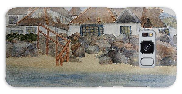 Saint Malo Beach House Galaxy Case by Jan Cipolla