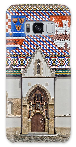 Saint Mark Church Facade Vertical View Galaxy Case