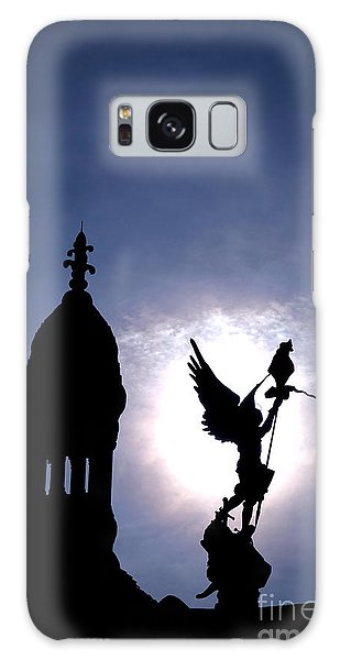 Sacred Heart Galaxy Case - Saint Michael The Archangel  by Olivier Le Queinec