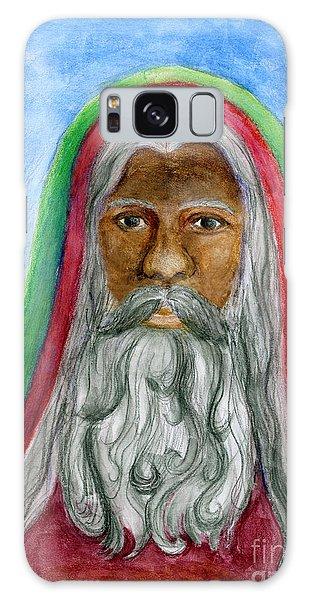 Saint Nicholas Black Old World Santa  Galaxy Case