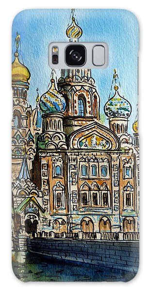 Saint Petersburg Russia The Church Of Our Savior On The Spilled Blood Galaxy Case